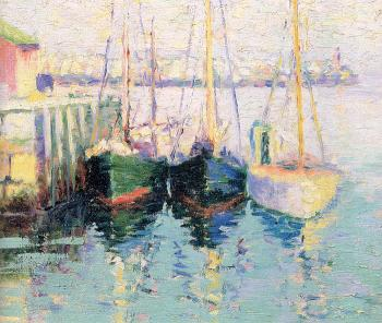 George Loftus Noyes : Rockport Boats